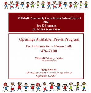 Openings Available for MCCS Pre-K Program