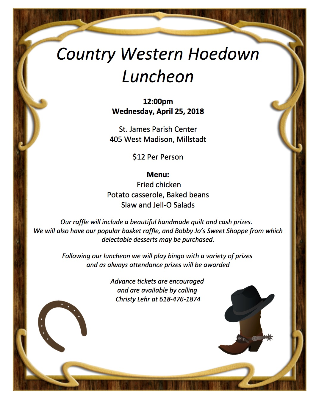 Country Western Hoedown Luncheon - Millstadt, IL News