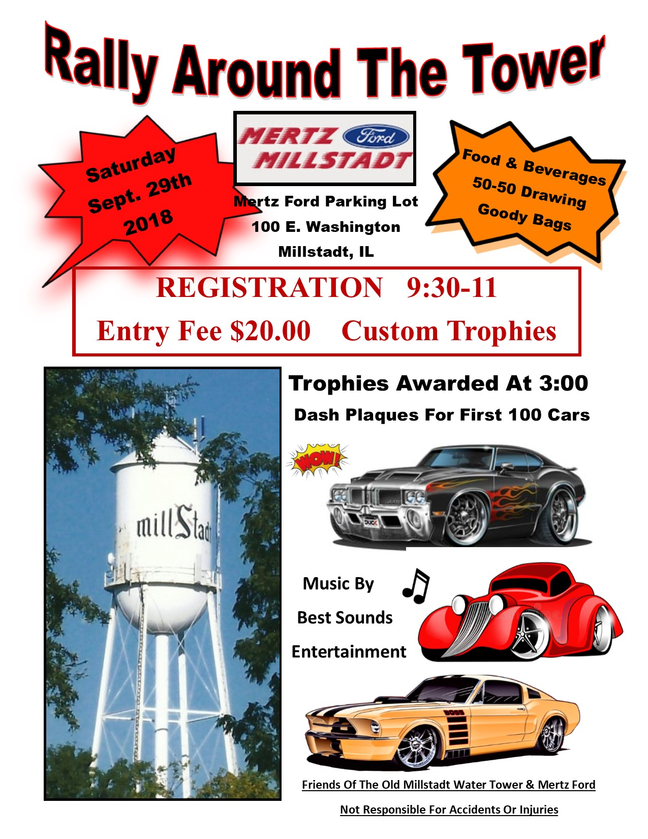 Rally Around The Tower Car Show Friends Of The Old Millstadt Water - Homemade car show trophies