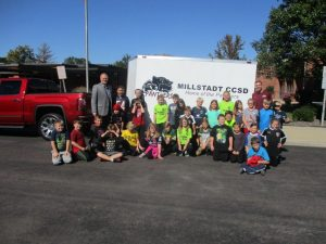 Columbia Kiwanis Club Donates Cargo Trailer to Millstadt Community School